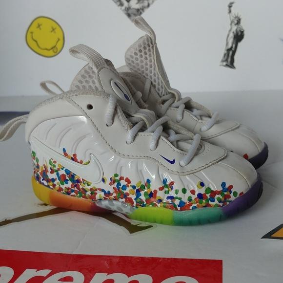 factory authentic 20475 a8cb2 Toddler Nike fruity pebbles foamposite. M 5b7730e3c2e9fe1541a69fb6